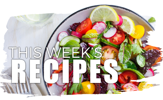 This Week's Recipes