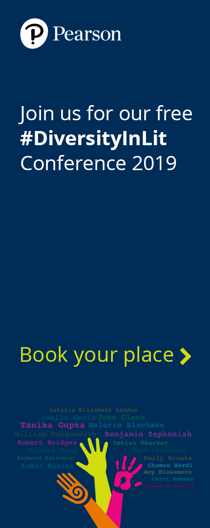 Pearson - Join us for our free #DiversityInLit conference 2019 - Book your place
