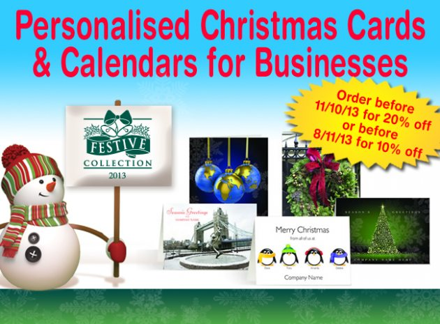 Hot product personalised christmas cards calendars for personalised christmas cards calendars for businesses from festive collection colourmoves