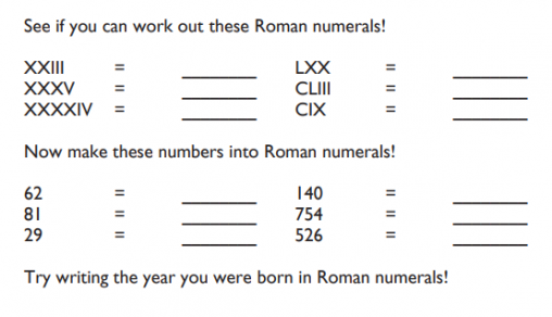 Vi Of The Best Roman Numerals Resources For Ks12 Maths