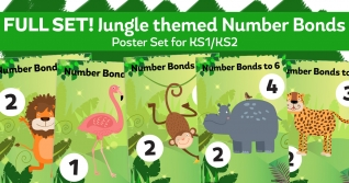 Animal Posters For Teaching Number Bonds to 4-10 For KS1
