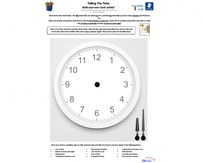 blank clock worksheet and tell the time activity for ks2. Black Bedroom Furniture Sets. Home Design Ideas