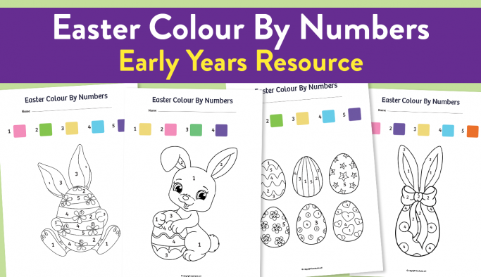 Early Years Easter Colour-By-Number Sheets