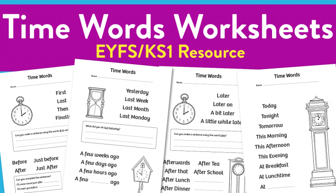 Time words worksheets for eyfs and ks1 teachwire teaching resource time words worksheets for eyfs and ks1 ibookread Download