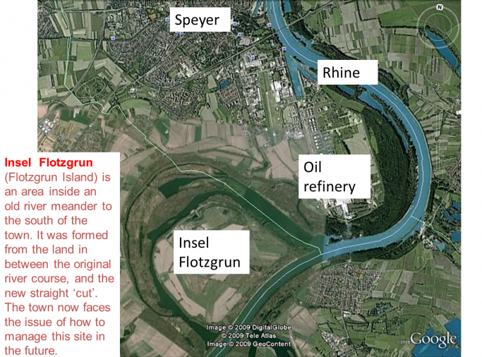 KS3 Geography Lesson – How Rivers Form Meanders, Oxbow Lakes and Islands like Insel Flotzgrun