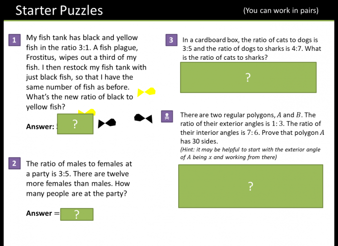 Ratio And Proportion For Ks3 Maths Teachwire Teaching Resource
