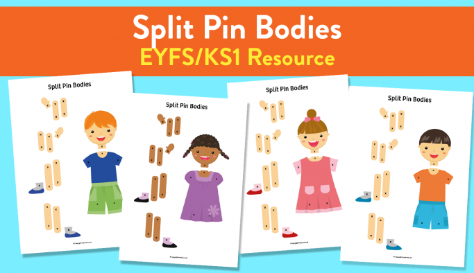 Split-pin Bodies Activity for Early Years and KS1