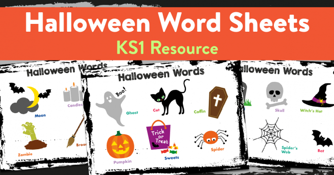 Printable Halloween Word Mats for Reception/KS1 – Set of 3