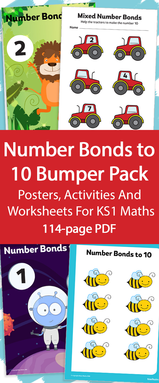 Number Bonds To 10 Bumper Pack Posters Activities And Worksheets