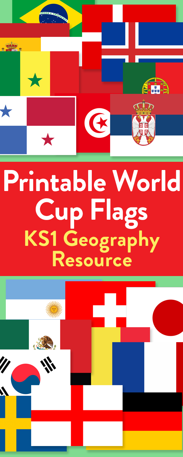2018 World Cup Printable Flags for all 32 Countries