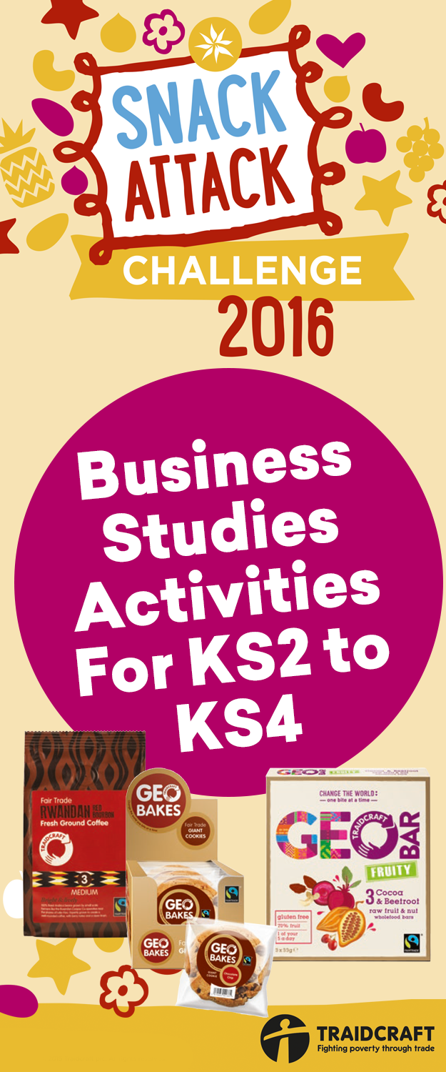 Snack Attack Group Competition Pack 2016 – Business Studies Activities For KS2 to KS4