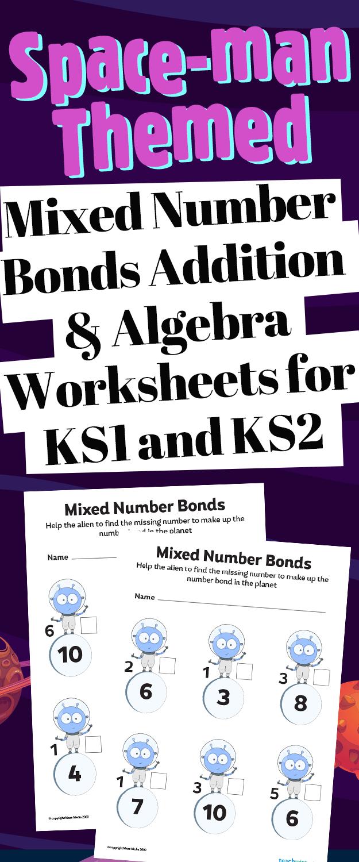 Number Bond Jigsaw Addition Worksheets For Ks1ks2 Maths
